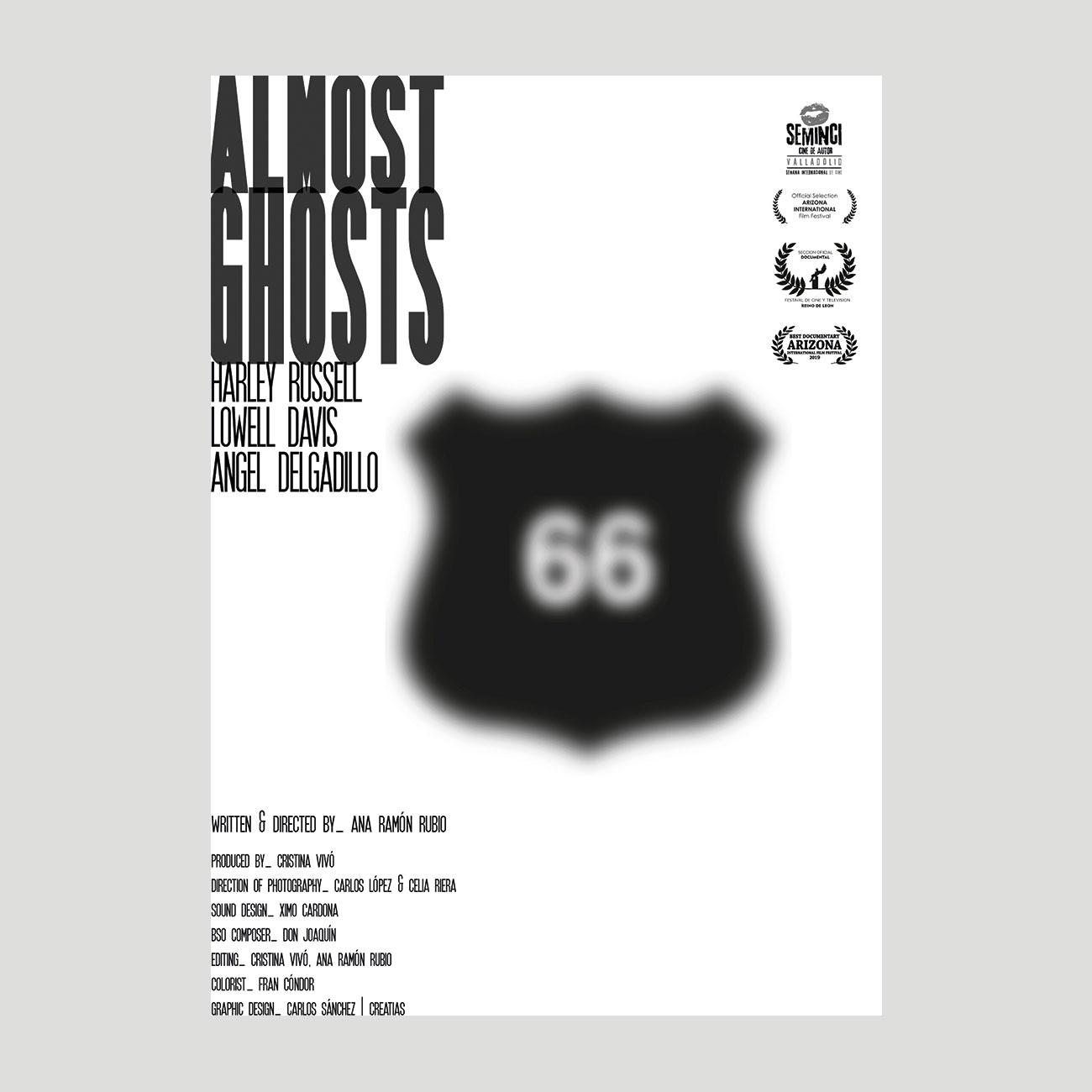 Serie carteles Almost Ghosts por Creatias Estudio