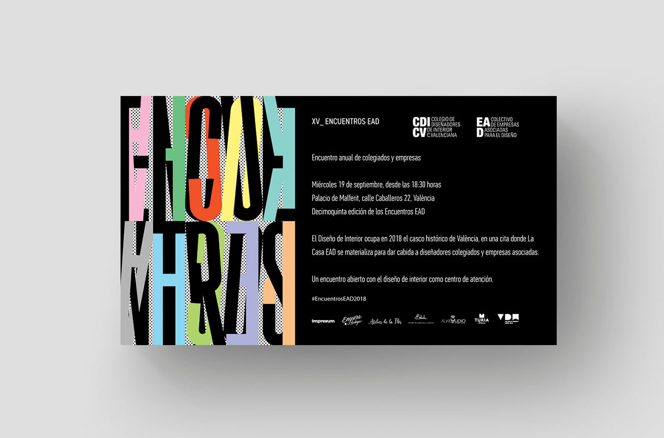 Cartel X Encuentros EAD por Creatias Estudio