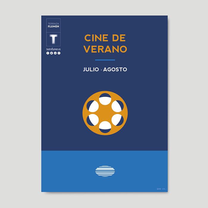 Cartel Cine de verano Teatro Flumen por Creatias Estudio