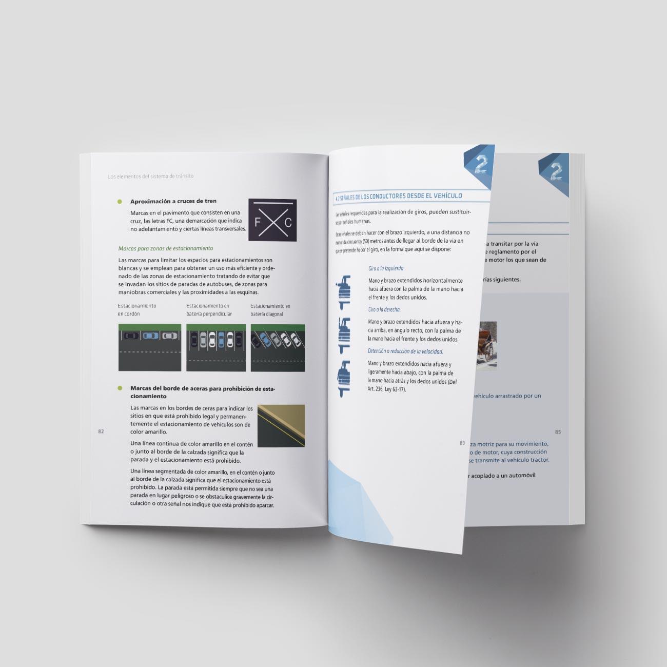 Diseño editorial Manual de conducción INTRANT por Creatias Estudio