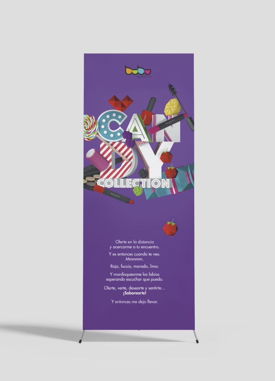 Packaging Roll Up Candy Bubu Makeup por Creatias Estudio