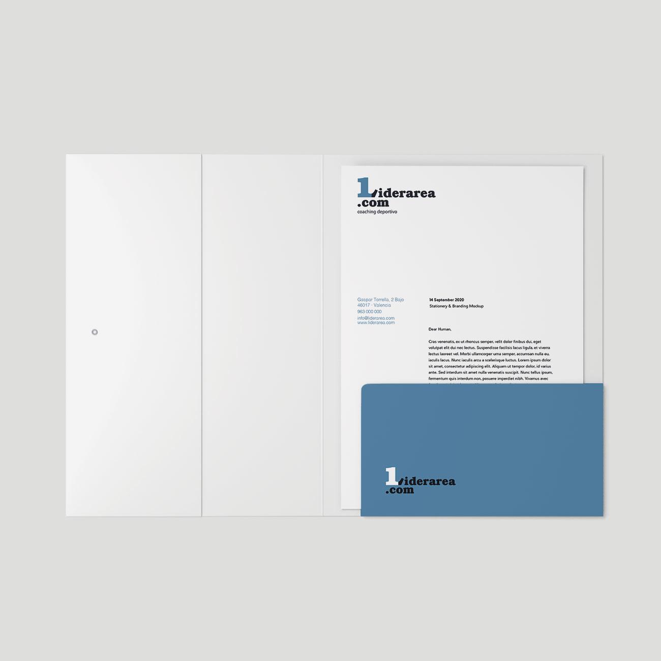 Identidad corporativa Lidearea, por Creatias Estudio