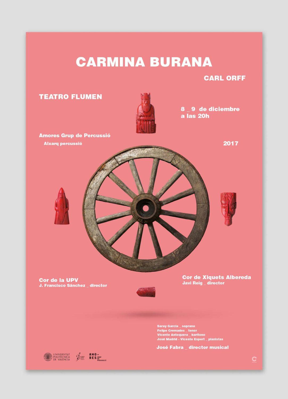 Cartel Carmina Burana el musical, por Creatias Estudio