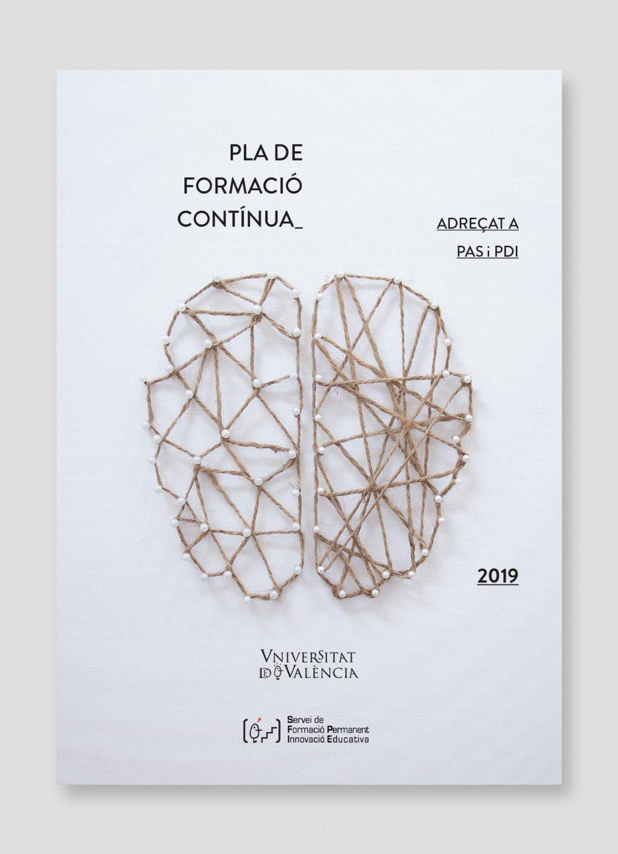 Cartel Plà de formació continua, Universitat de València