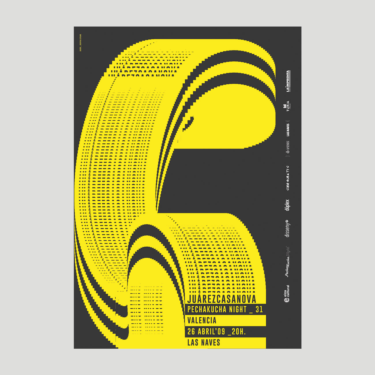 Cartel PechaKucha Night 31 Valencia, por Creatias Estudio