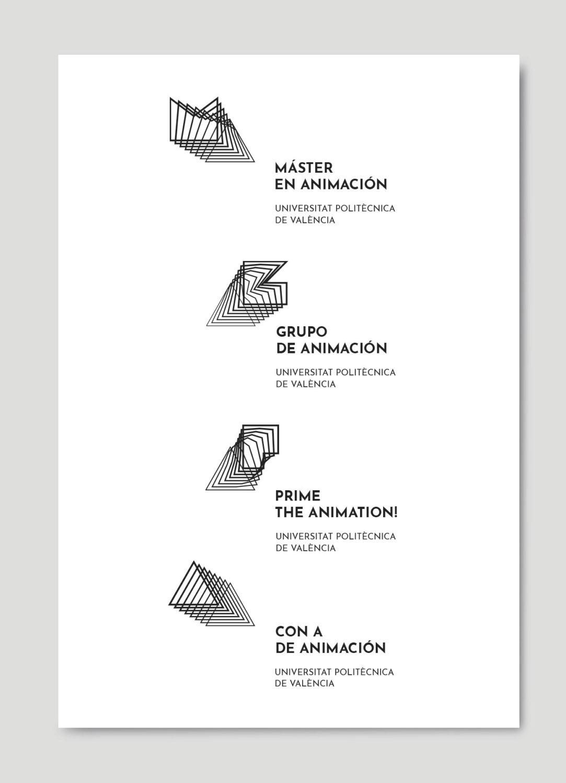 Identidad corporativa Animación UPV por Creatias
