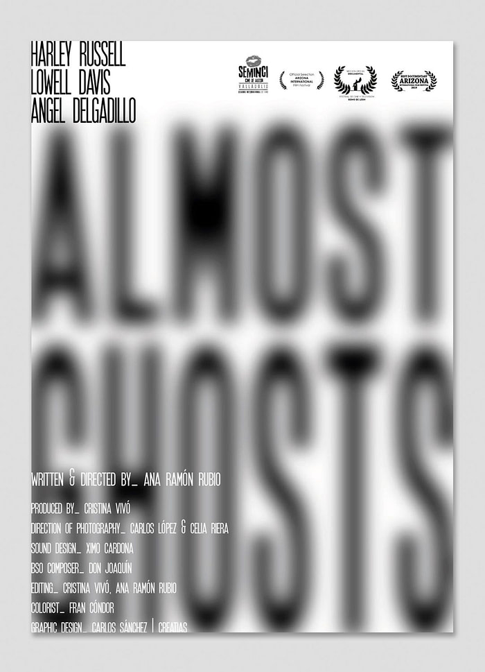 carteles Almost Ghosts por Creatias Estudio