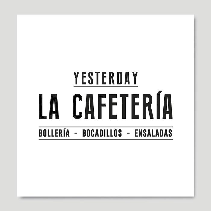 Yesterday La Cafetería identidad corporativa, por Creatias Estudio
